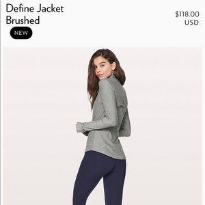Lululemon define jacket brushed in gray